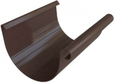 Жёлоб ПВХ, цвет коричневый