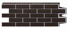 Фасадная панель GRAND LINE Клинкерный кирпич (Шоколадный), 1,10м